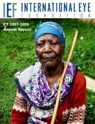2008 Annual Report - The International Eye Foundation