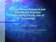 Gilbert, L. - Educational Design Research Conference