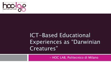 ICT-Based Educational Experiences as - Educational Design ...