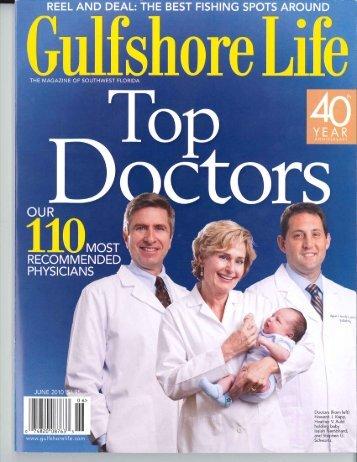 TOP Doctors in Gulfshore Life Magazine. - Nicolas G. Zouain MD