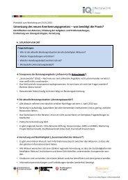 Workshop Protokoll - Netzwerk Integration durch Qualifizierung