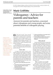 Videogames: Advice for parents and teachers - Forest Hill School