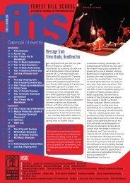 FHS Newsletter Autumn 2010 - Forest Hill School