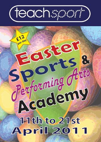 A5 FLYER - EASTER - Forest Hill School