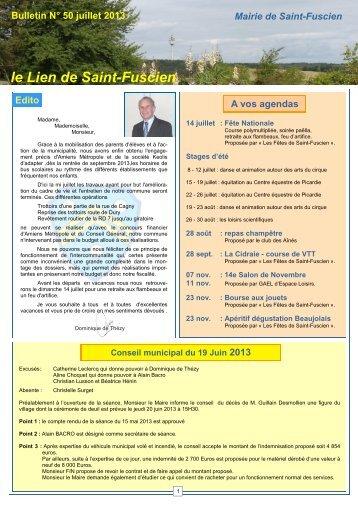 Lien n°50 juillet 2013 - Saint-Fuscien