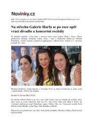 Novinky - Na střechu Galerie Harfa se po roce opět vrací divadlo