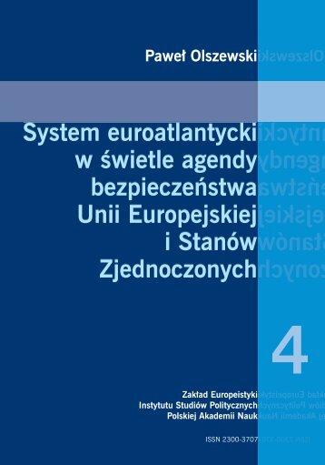 System euroatlantycki w świetle agendy bezpieczeństwa Unii ...