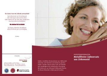 Metallfreier Zahnersatz aus Zirkonoxid (ca. 375.3 ... - Sabine Kania