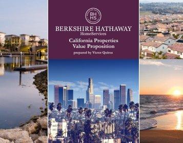 California Properties Value Proposition