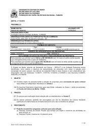 Edital - Fundação Cultural do Estado da Bahia