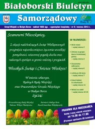 Białoborski Biuletyn Samorządowy nr 9/III2013 - Biały Bór