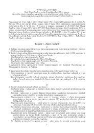 Uchwała nr 359/V/2010 Rady Miasta Józefowa z dnia 21 ... - Józefów