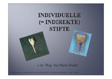 Ina Maria Bauer Präsentation Individuelle Stiftex