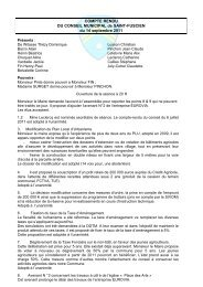 Conseil municipal du 14 septembre 2011 - Saint-Fuscien