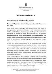 Tatort Internet: Gefahren für Kinder - Polizeipräsidium Karlsruhe