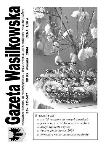Numer 83 - Gazeta Wasilkowska - Wasilków