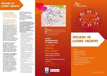 Dépliant sur les ateliers de loisirs créatifs - Ville de Meudon