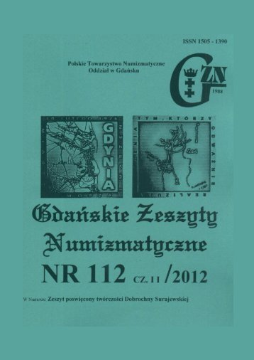 Gdańskie Zeszyty nr 94 - Polskie Towarzystwo Numizmatyczne ...