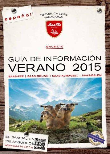 Guía de información - verano 2015