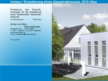 Umbau / Erweiterung eines Gemeindehauses, EFG Olpe