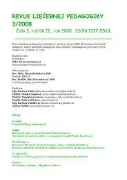 revue liečebnej pedagogiky 3/2008 - pro lp asociácia liečebných ...