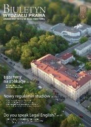 Październik - Listopad 2009 - Wydział Prawa Uniwersytetu w ...