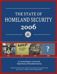 2006 Dept of Homeland Security Report Card - Committee on ...
