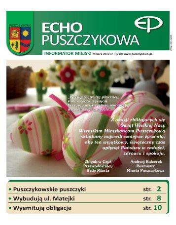 Marzec 2012 - Puszczykowo, Urząd Miasta