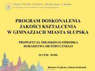 plik w PDF - Ośrodek Doskonalenia Nauczycieli w Słupsku