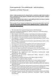 Pytania egzaminacyjne , Prawo administracyjne – studia ...