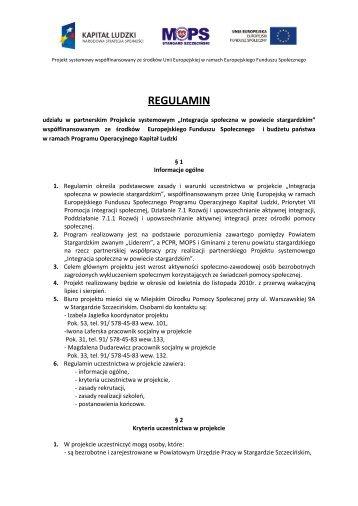 Regulamin uczestnictwa