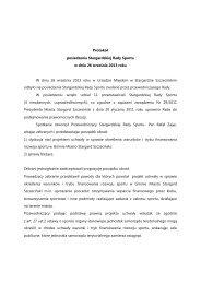 Protokół z posiedzenia Stargardzkiej Rady Sportu w dniu 26 ...