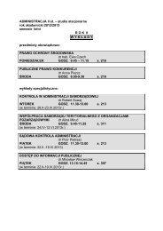 studia stacjonarne rok akademicki 2012/2013 semestr letni ROK II ...