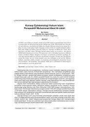 Konsep Epistemologi Hukum Islam: Perspezktif Muhammad Abed Al