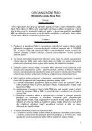 Organizační řád MěÚ Nová Role