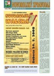 Novorolský zpravodaj 05/08 - Nová Role