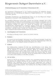 Bürgerverein Stuttgart-Stammheim e.V.