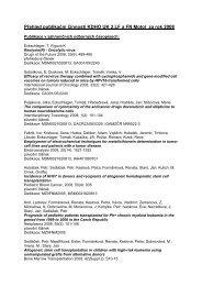 Publikační činnost v roce 2008 - Klinika dětské hematologie a ...