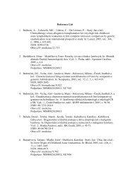 Publikační činnost v roce 2005 - Klinika dětské hematologie a ...