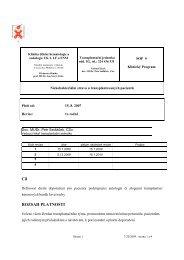 Nízkobakteriální strava - Klinika dětské hematologie a onkologie FN ...