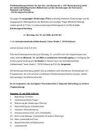 Öffentliche Einladung des Regierungspräsidiums - ARGE Nord-Ost