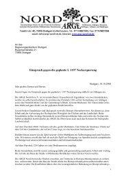 Einspruch gegen die geplante L 1197 ... - ARGE Nord-Ost