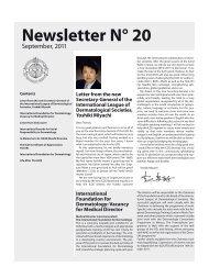 Newsletter N° 20 - The International League of Dermatological ...