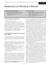 Trasplante de páncreas e islotes - sacd.org.ar