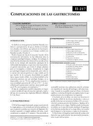 Complicaciones de las gastrectomías. - sacd.org.ar