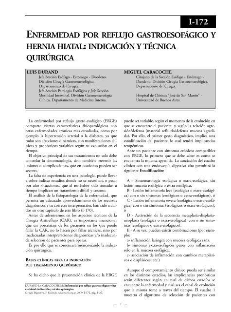 Complicaciones de la esofagoplastia de la hipertensión