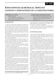 Esplenopatías quirúgicas. Aspectos clínicos e ... - sacd.org.ar