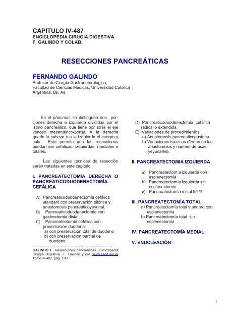 diabetes después de la recuperación parcial de pancreatectomía