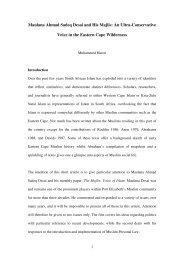 Maulana Ahmad Sadeq Desai and His Majlis - Centre for ...