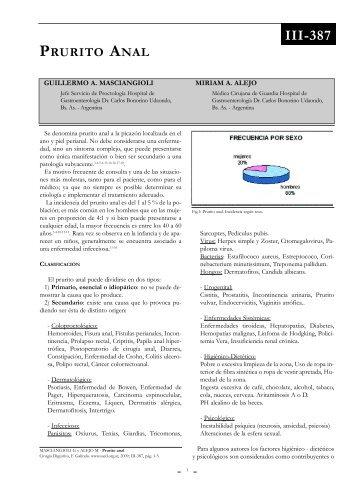 Prurito anal. - Sacd.org.ar